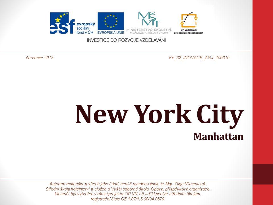 New York City Manhattan Autorem materiálu a všech jeho částí, není-li uvedeno jinak, je Mgr.
