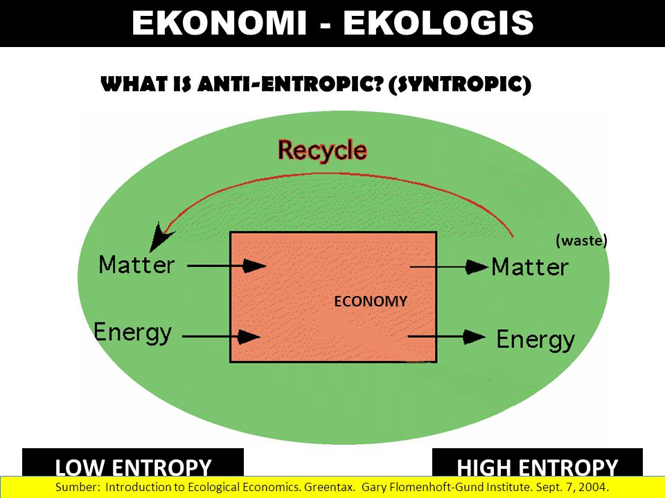 WHAT IS ANTI-ENTROPIC.