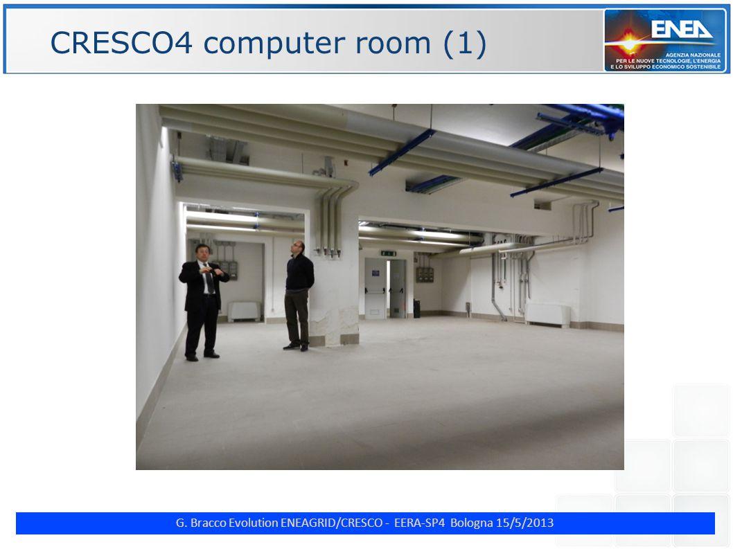 G. Bracco Evolution ENEAGRID/CRESCO - EERA-SP4 Bologna 15/5/2013 ENE CRESCO4 computer room (1)