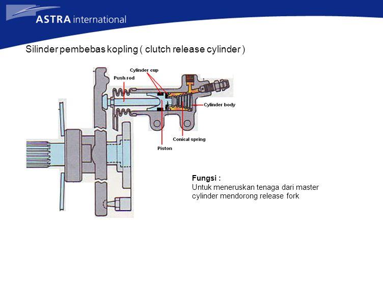 Master silinder kopling Fungsi : Untuk menghasilkan tenakan hydrolis
