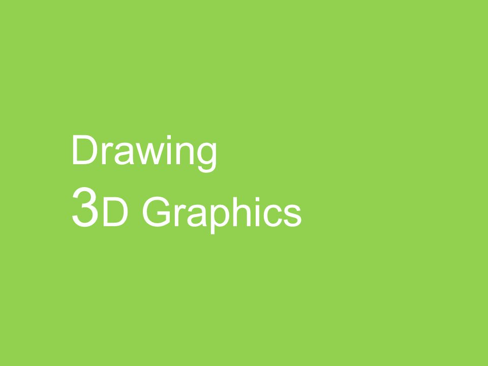 Drawing 3 D Graphics