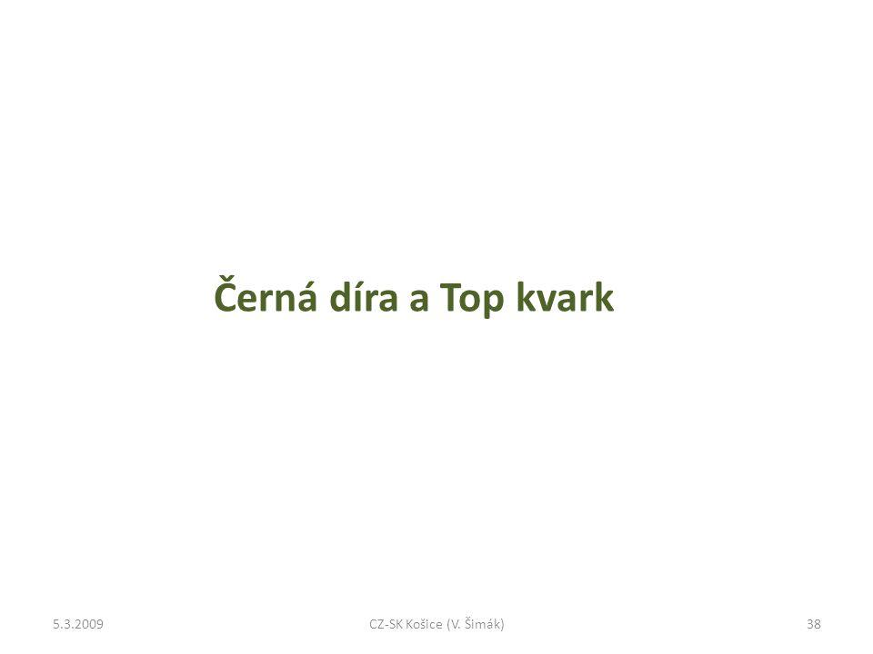 Černá díra a Top kvark 5.3.200938CZ-SK Košice (V. Šimák)