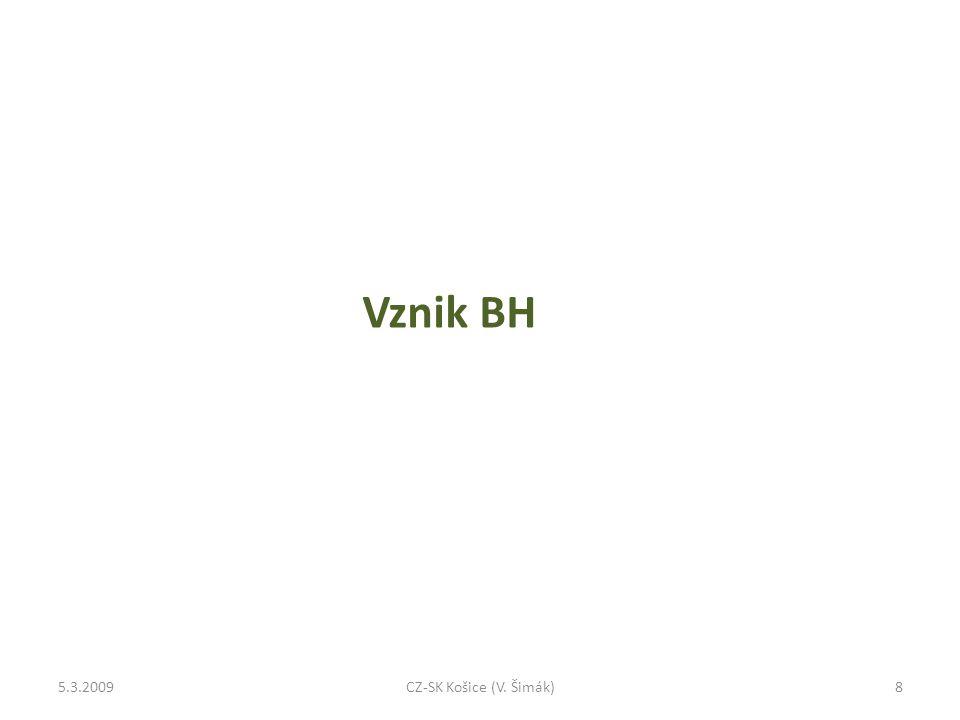 Vznik BH 5.3.20098CZ-SK Košice (V. Šimák)