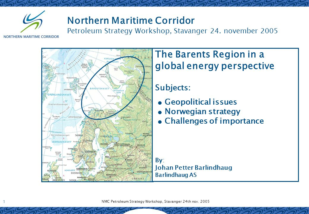 NMC Petroleum Strategy Workshop, Stavanger 24th nov.