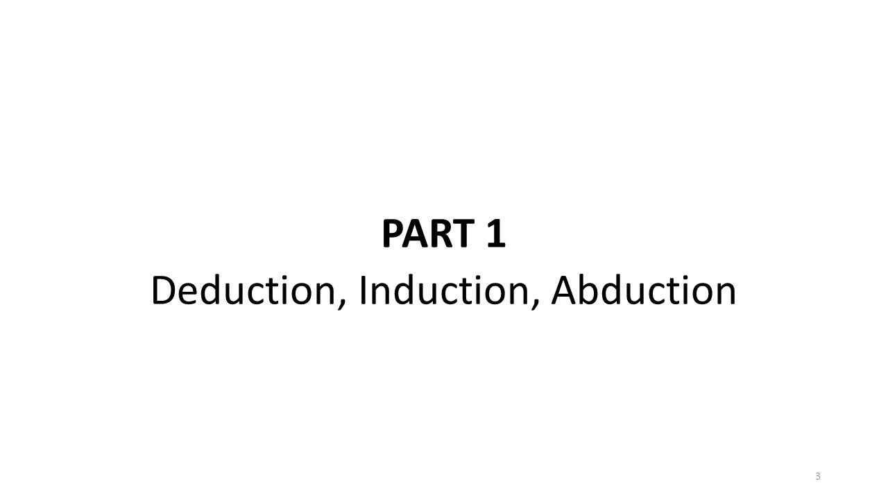 PART 1 Deduction, Induction, Abduction 3