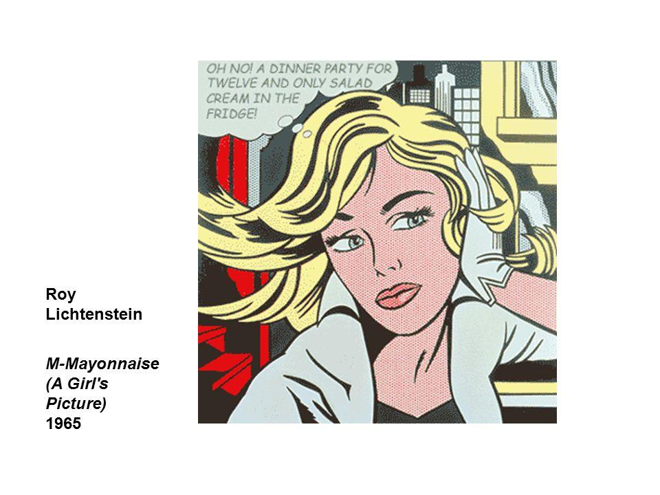 Roy Lichtenstein M-Mayonnaise (A Girl's Picture) 1965