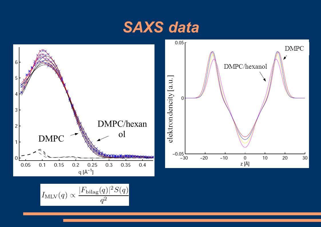 SAXS data