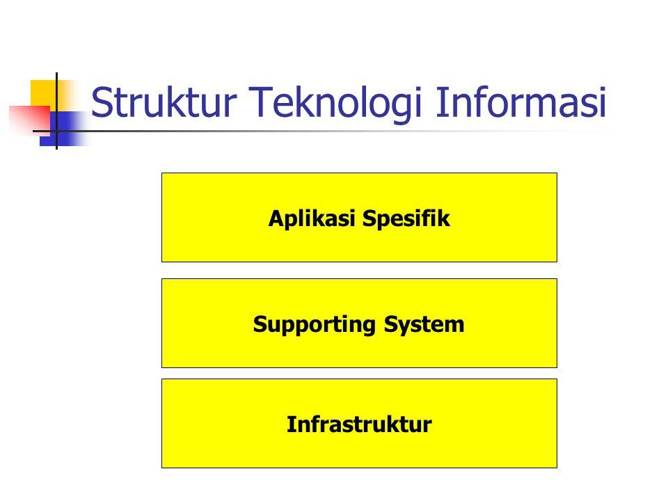 Struktur Teknologi Informasi Infrastruktur Supporting System Aplikasi Spesifik