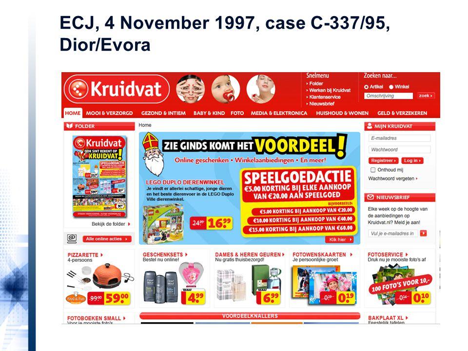 ECJ, 4 November 1997, case C-337/95, Dior/Evora