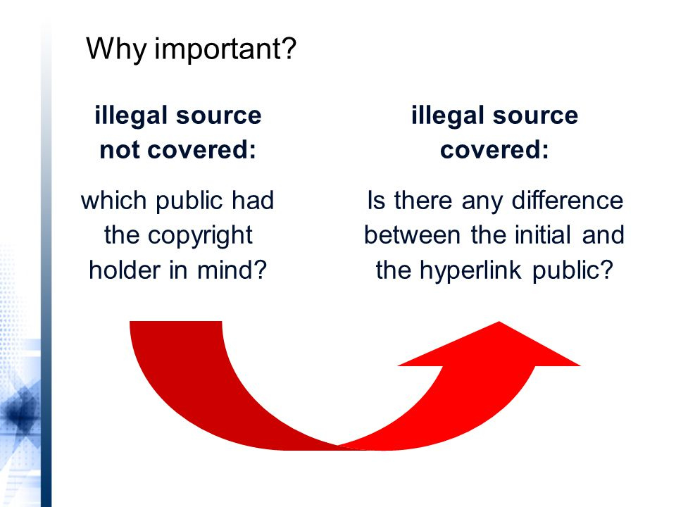 illegal source not covered: which public had the copyright holder in mind.