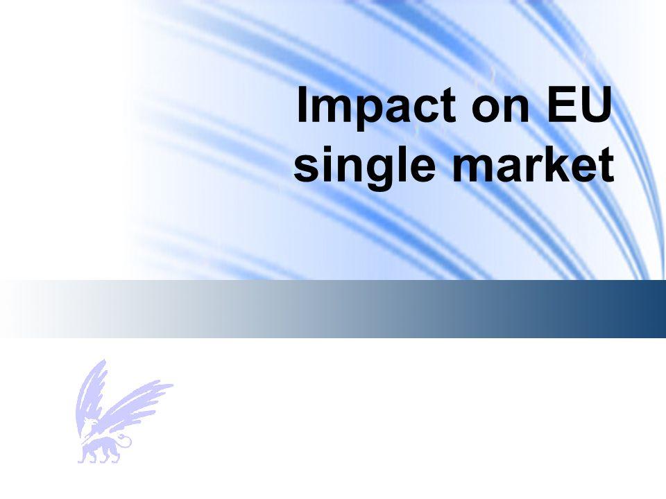 Impact on EU single market