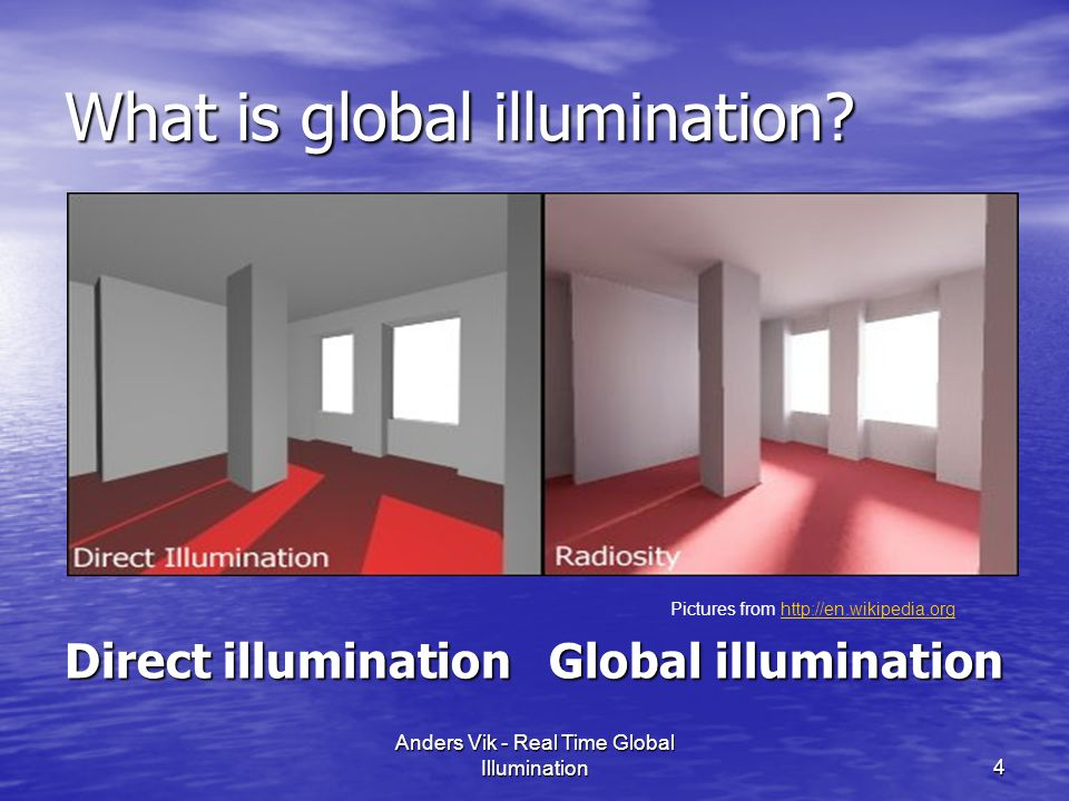 What is global illumination.
