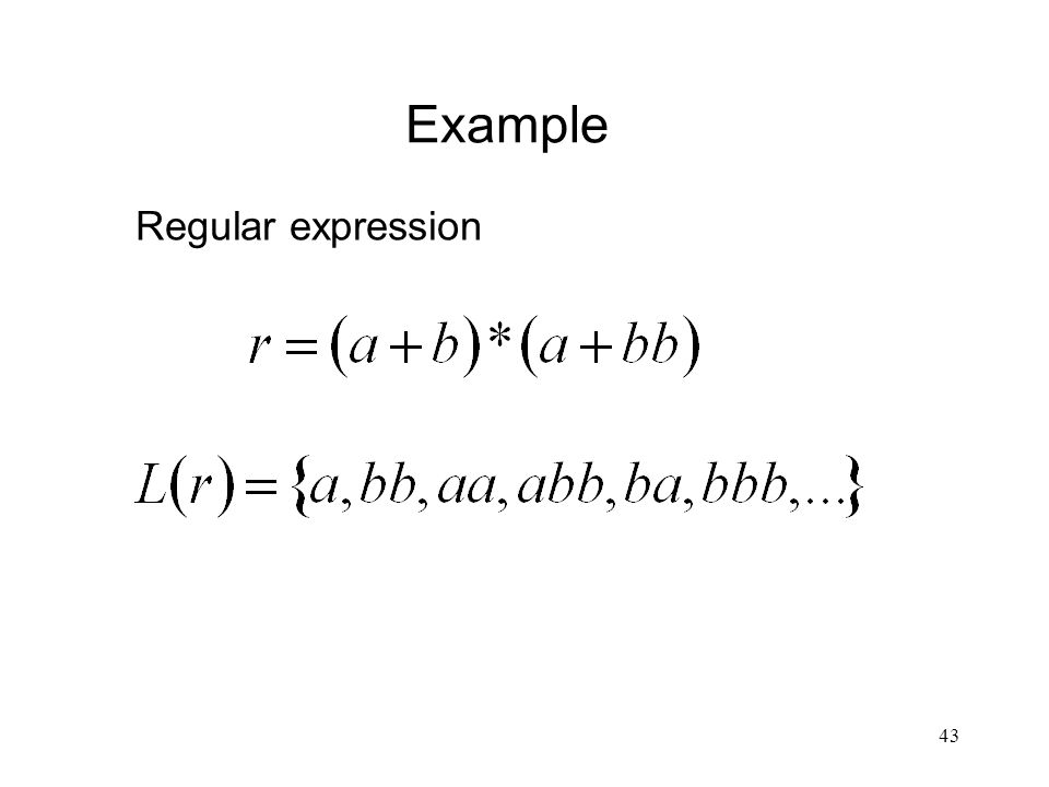 43 Example Regular expression