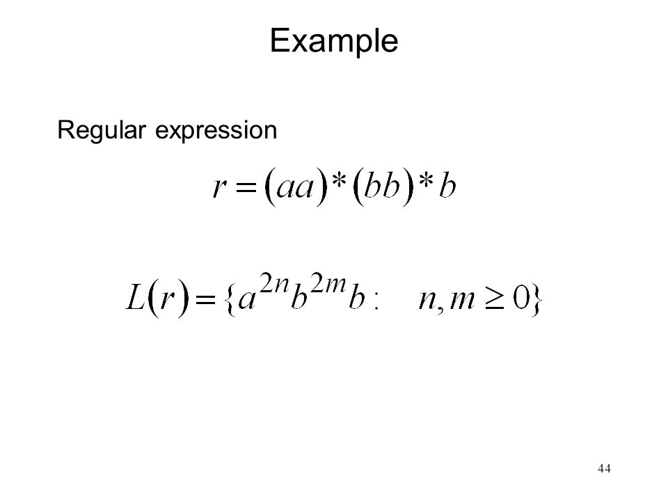 44 Example Regular expression