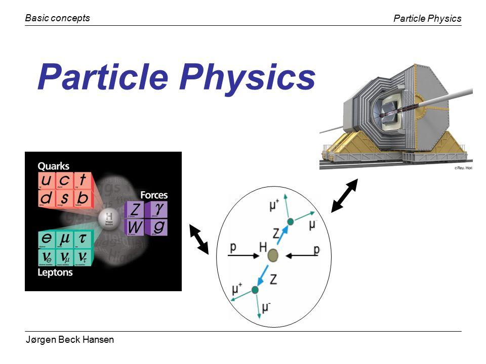 Jørgen Beck Hansen Particle Physics Basic concepts Niels Bohr Institute22