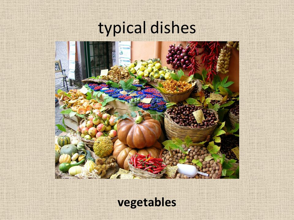 typical dishes vegetables