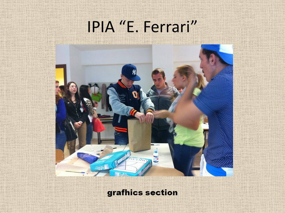 IPIA E. Ferrari grafhics section