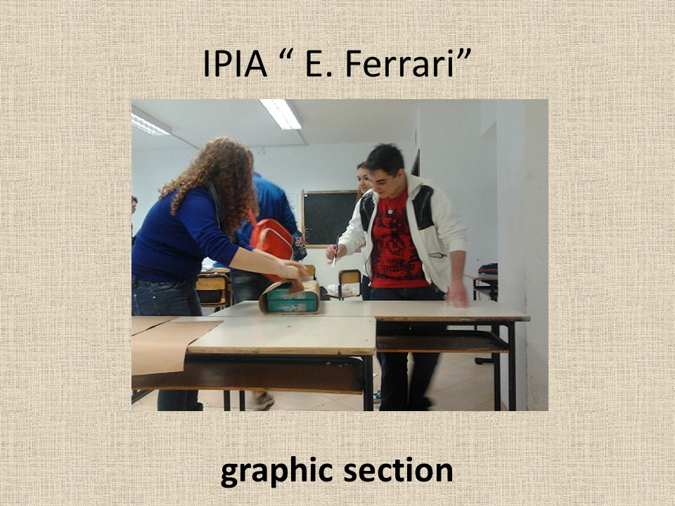 IPIA E. Ferrari graphic section