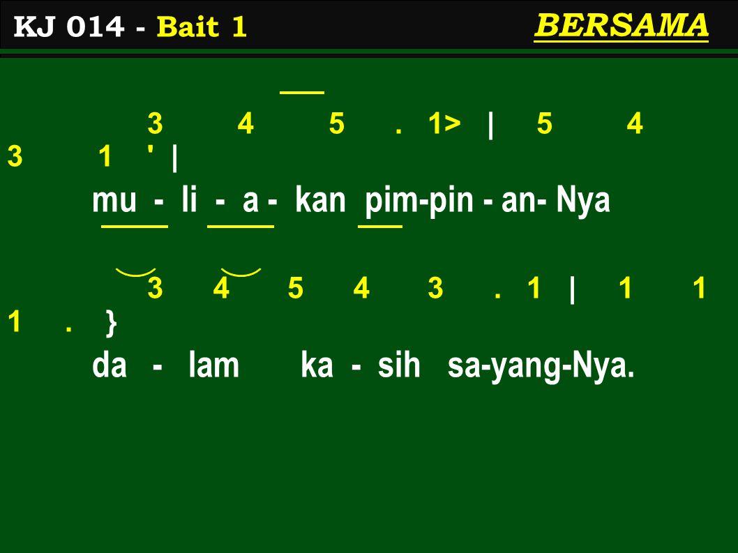 3 4 5. 1> | 5 4 3 1 | mu - li - a - kan pim-pin - an- Nya 3 4 5 4 3.