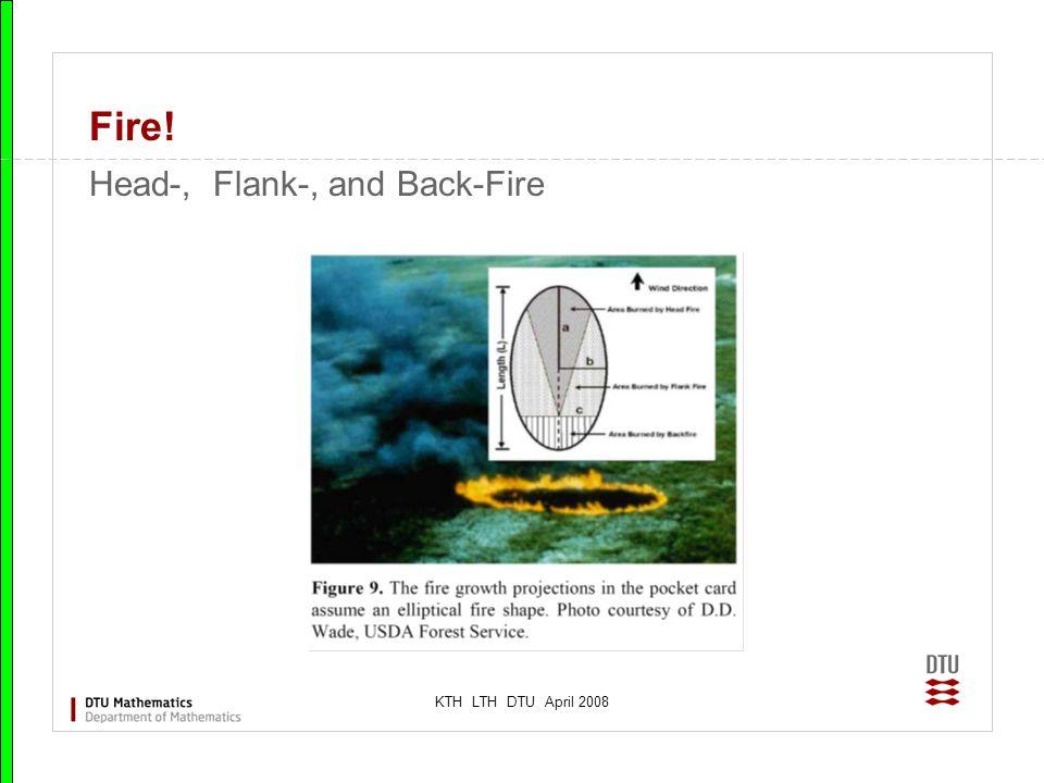 KTH LTH DTU April 2008 Fire! Head-, Flank-, and Back-Fire
