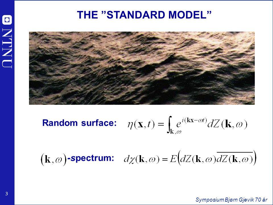 4 4 Symposium Bjørn Gjevik 70 år WAVE SPECTRA Dispersion surface Linear Theory: