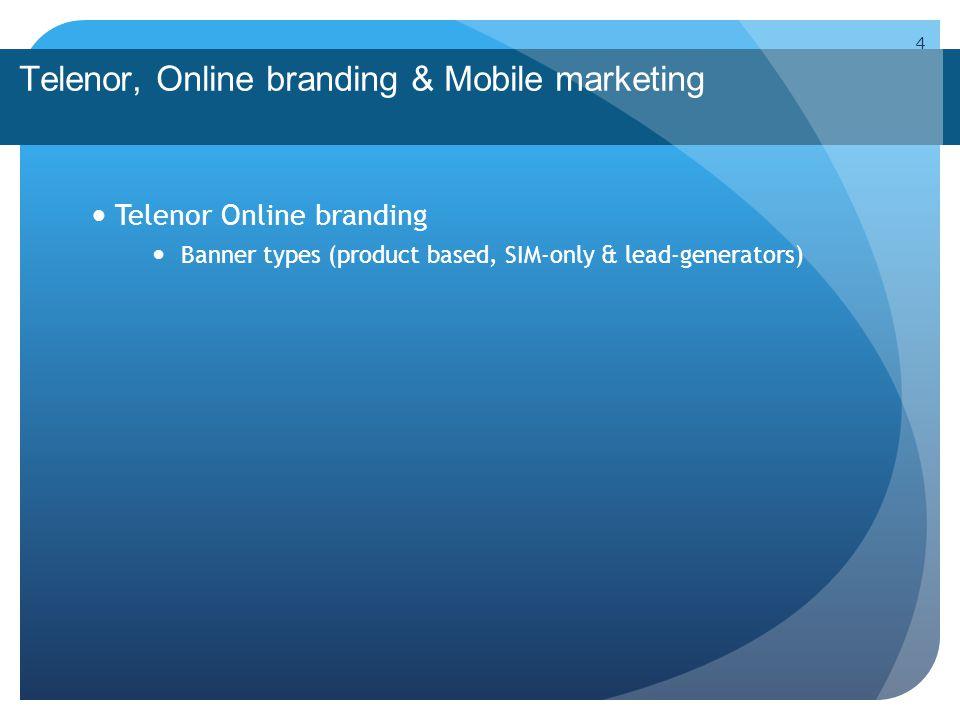 Telenor, Online branding & Mobile marketing Contextual Branding 15 Segmentation by operator Telenor-clientsnon-clients Platform segmentation iPhoneAndroidOviOtherNoneExcl.