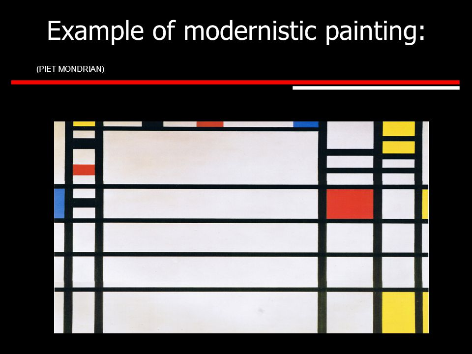 Example of modernistic webpage: