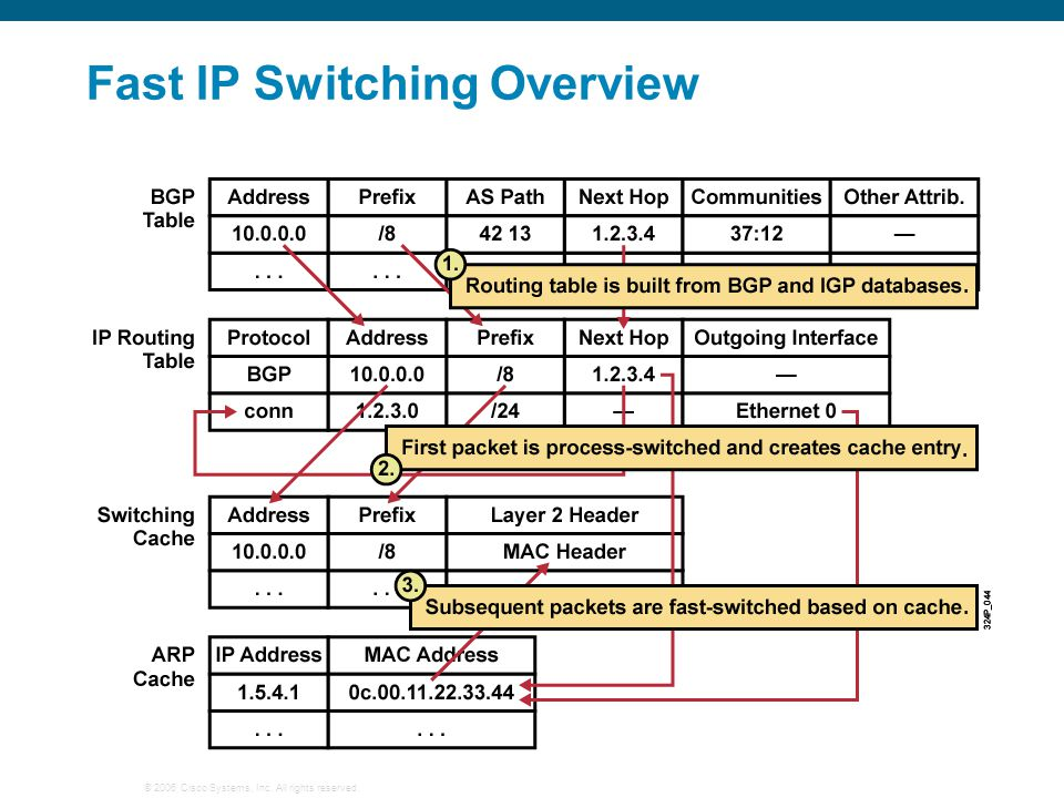 © 2006 Cisco Systems, Inc. All rights reserved. Fast IP Switching Overview...