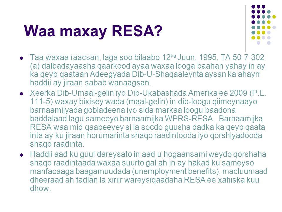 Waa maxay RESA.