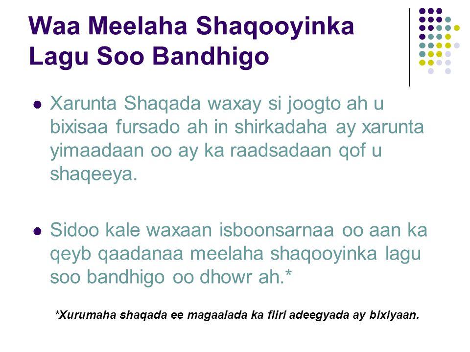 Waa Meelaha Shaqooyinka Lagu Soo Bandhigo Xarunta Shaqada waxay si joogto ah u bixisaa fursado ah in shirkadaha ay xarunta yimaadaan oo ay ka raadsadaan qof u shaqeeya.