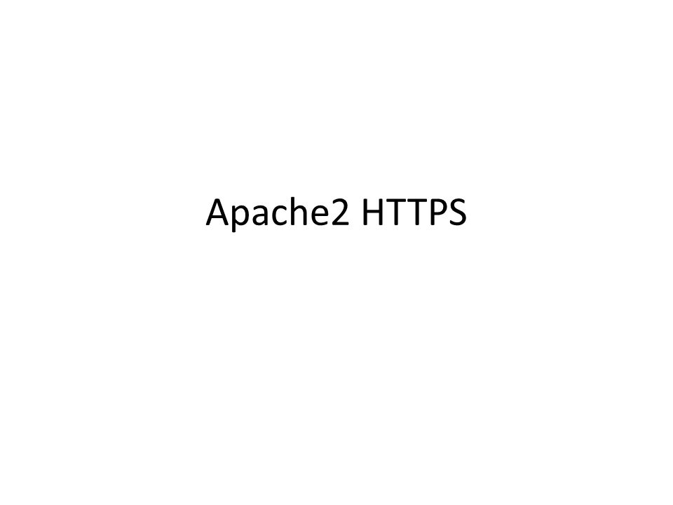 Apache2 HTTPS