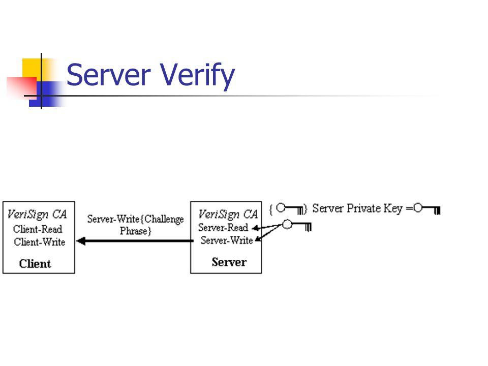 Server Verify