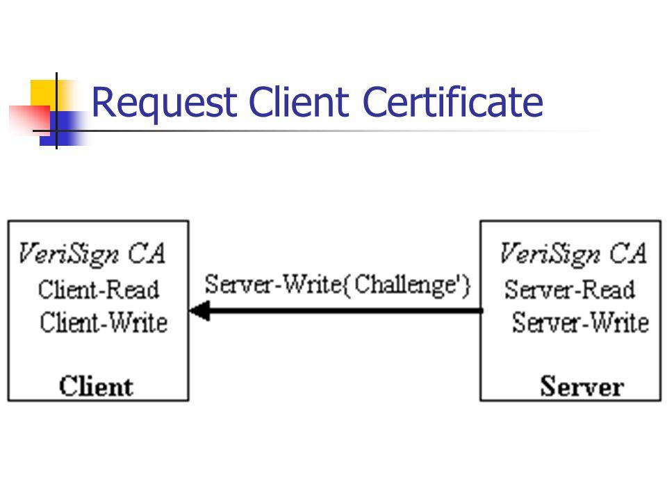 Request Client Certificate