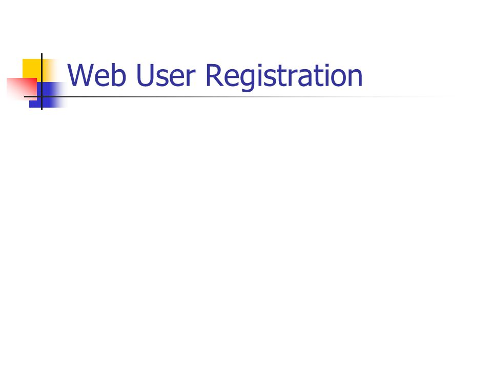 Web User Registration