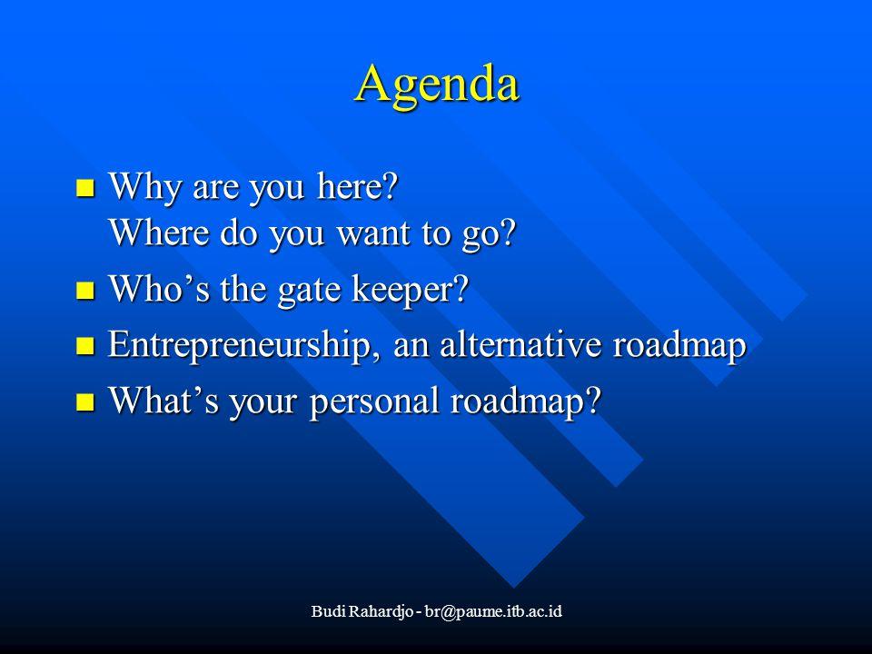 Budi Rahardjo - br@paume.itb.ac.id Agenda Why are you here.