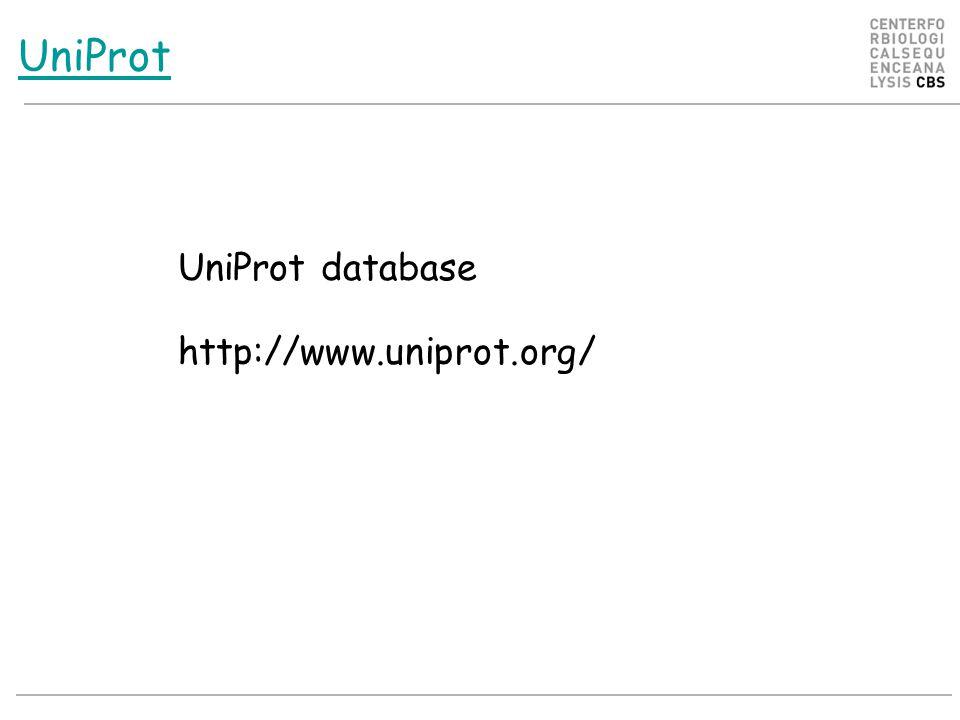 UniProt UniProt database http://www.uniprot.org/