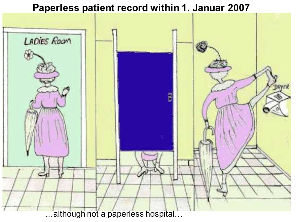 Paperless patient record within 1. Januar 2007 …although not a paperless hospital…