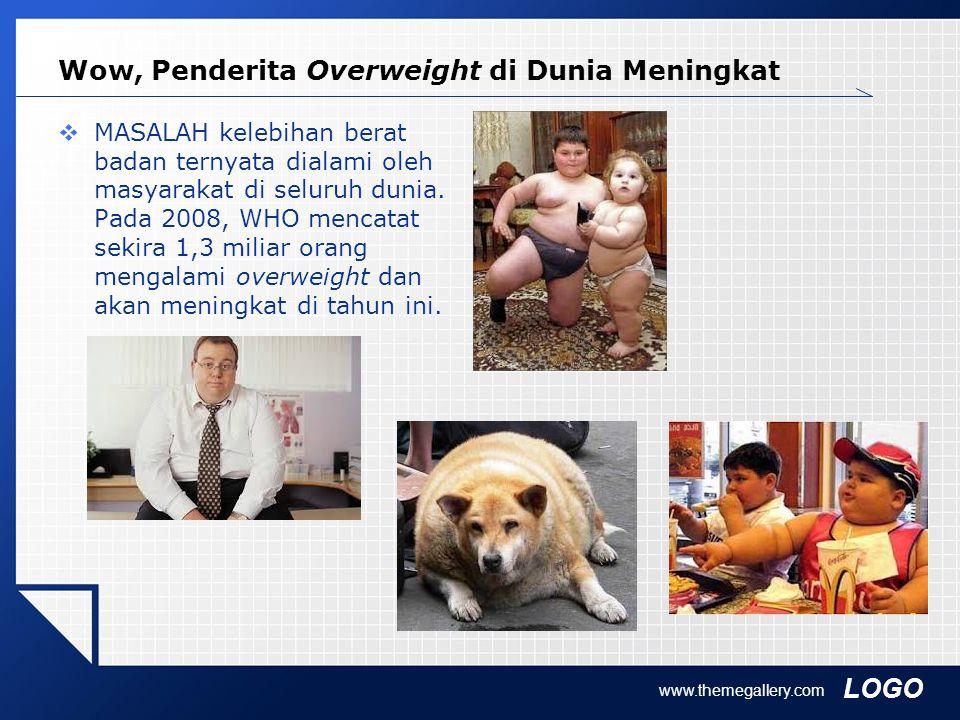 LOGO Wow, Penderita Overweight di Dunia Meningkat  MASALAH kelebihan berat badan ternyata dialami oleh masyarakat di seluruh dunia. Pada 2008, WHO me