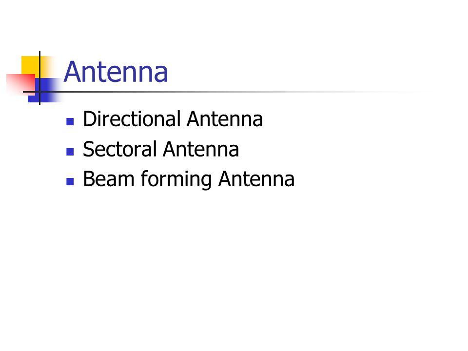 Antenna Directional Antenna Sectoral Antenna Beam forming Antenna