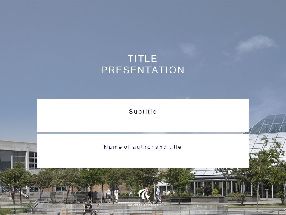 TITLE PRESENTATION Subtitle Name of author and title