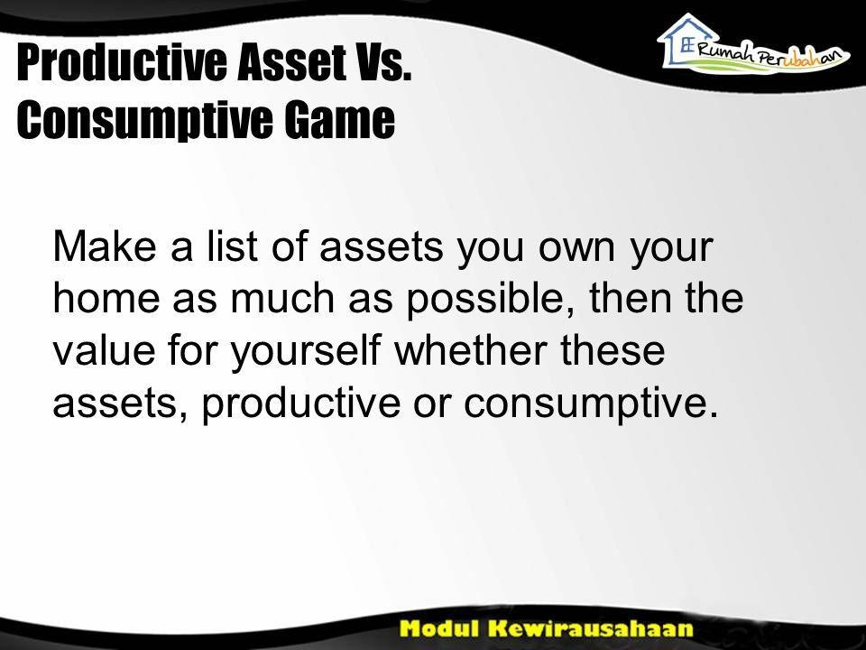 Productive Asset Vs.