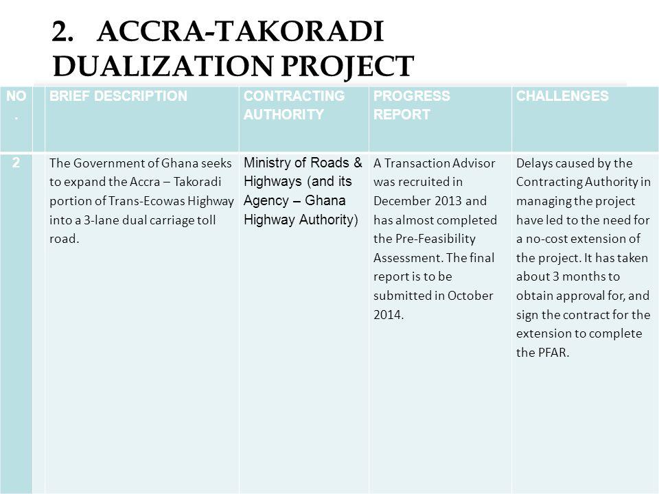 2. ACCRA-TAKORADI DUALIZATION PROJECT 14 NO.