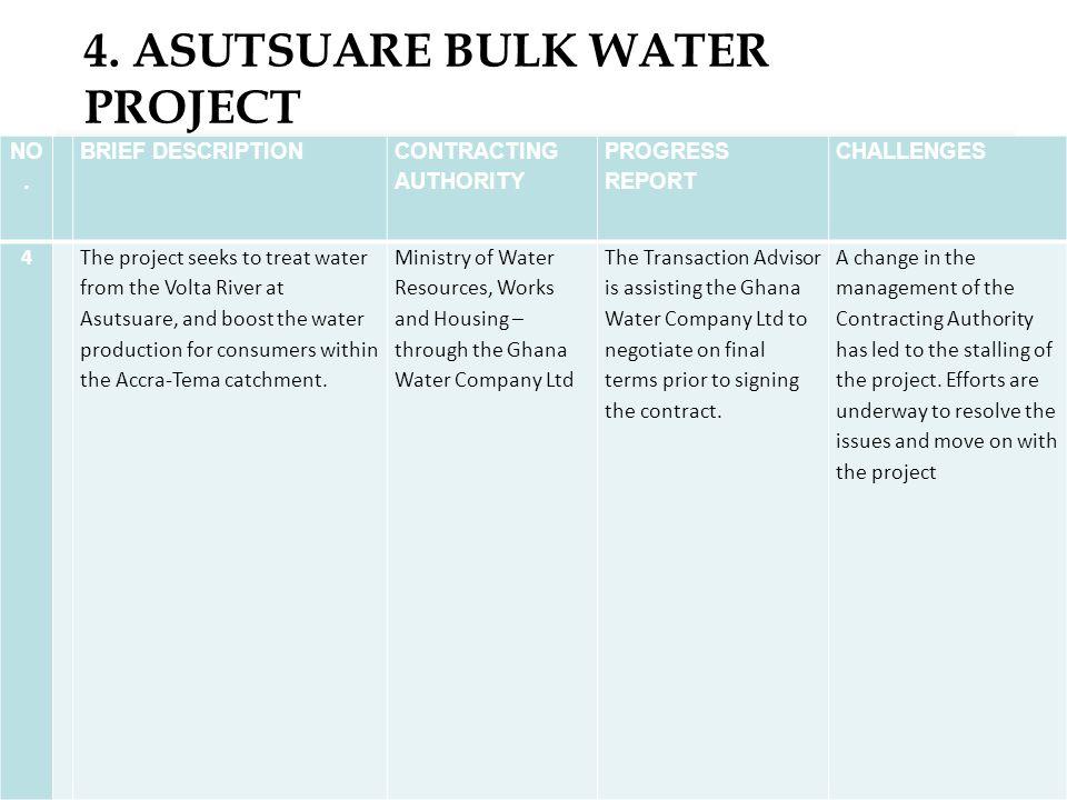 4. ASUTSUARE BULK WATER PROJECT 16 NO.