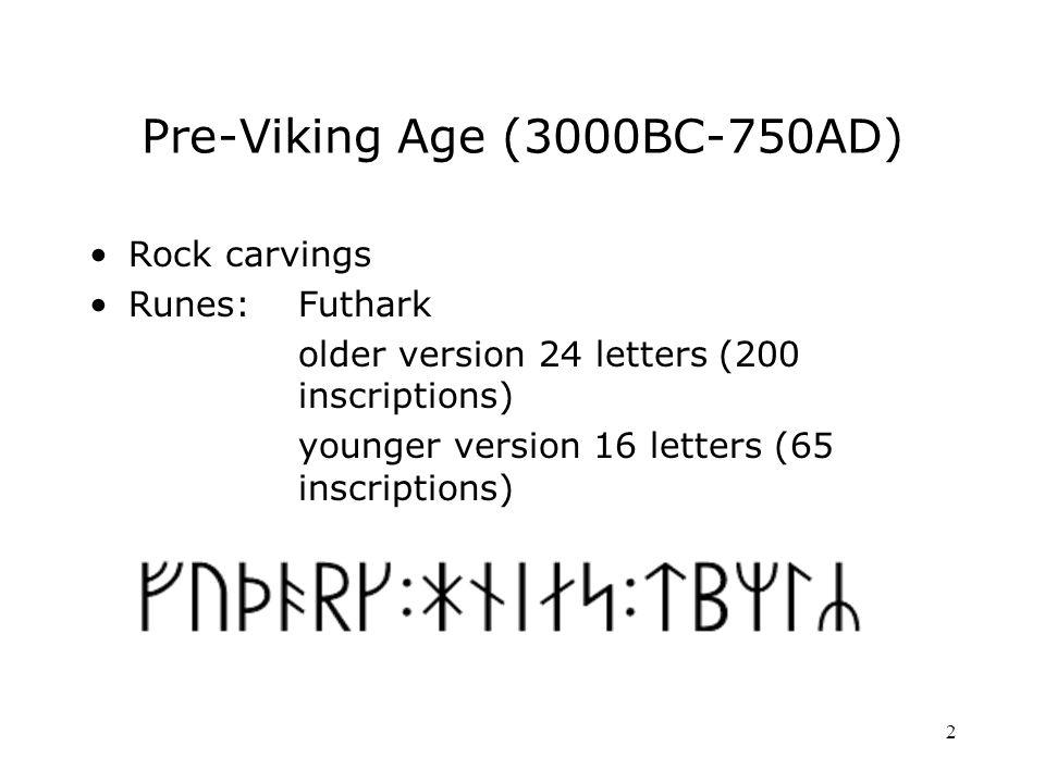 3 Viking Age (750-1050) Christianity National kingdom (Saint Olav) Norwegian/Icelandic common heritage