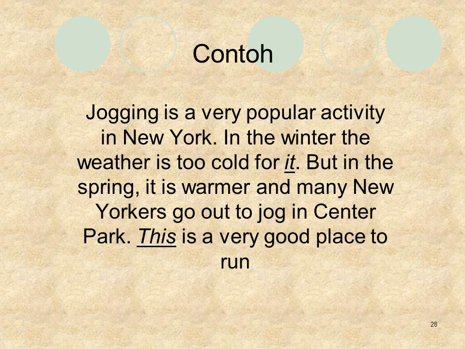 28 Jogging is a very popular activity in New York.