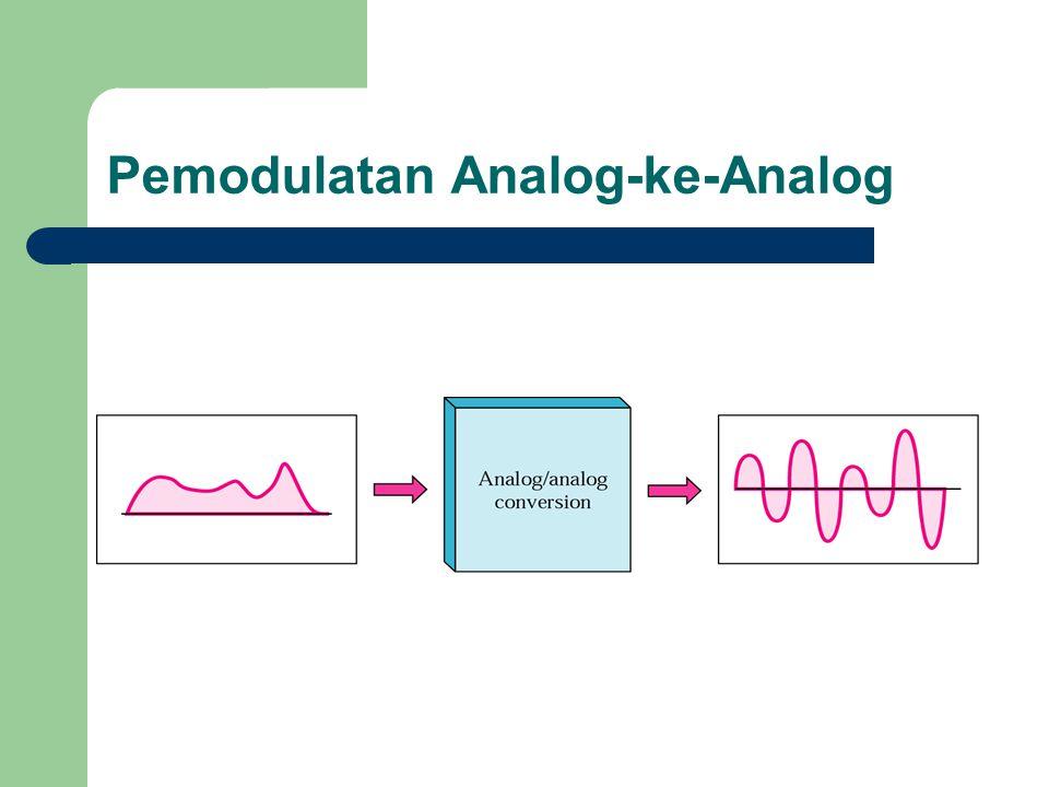 Pemodulatan Analog-ke-Analog