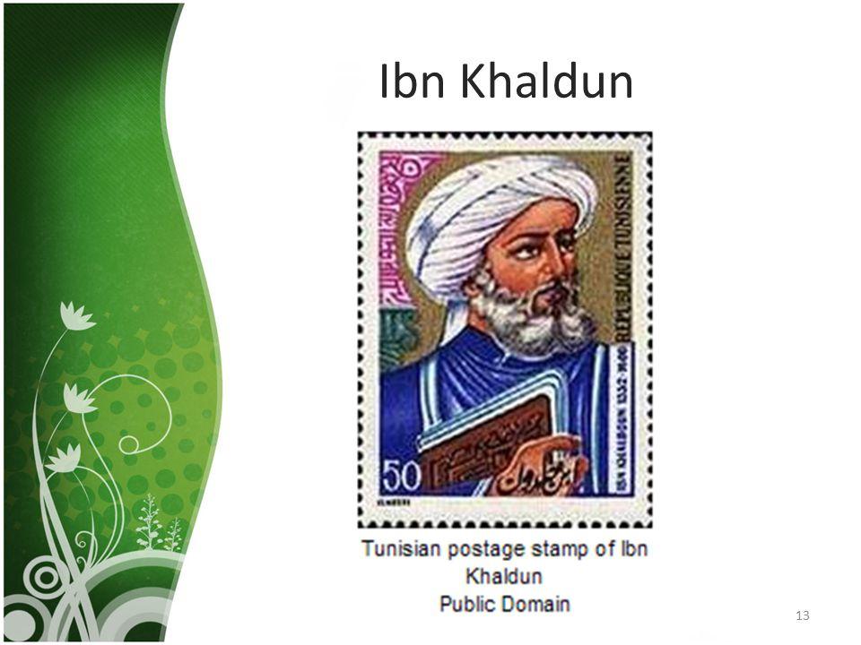 Ibn Khaldun 13