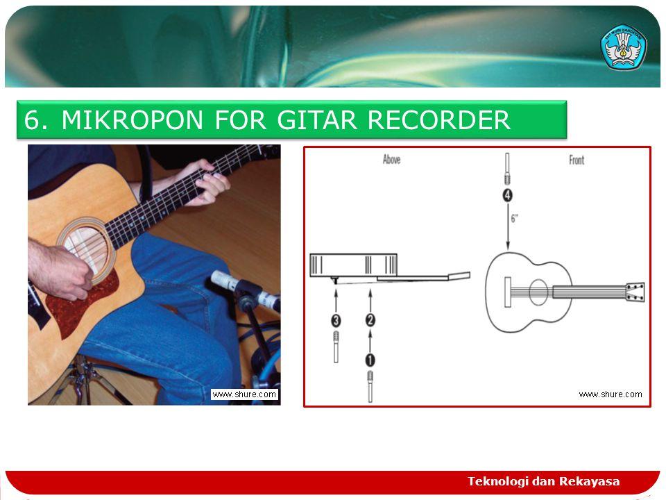 Teknologi dan Rekayasa 6.MIKROPON FOR GITAR RECORDER