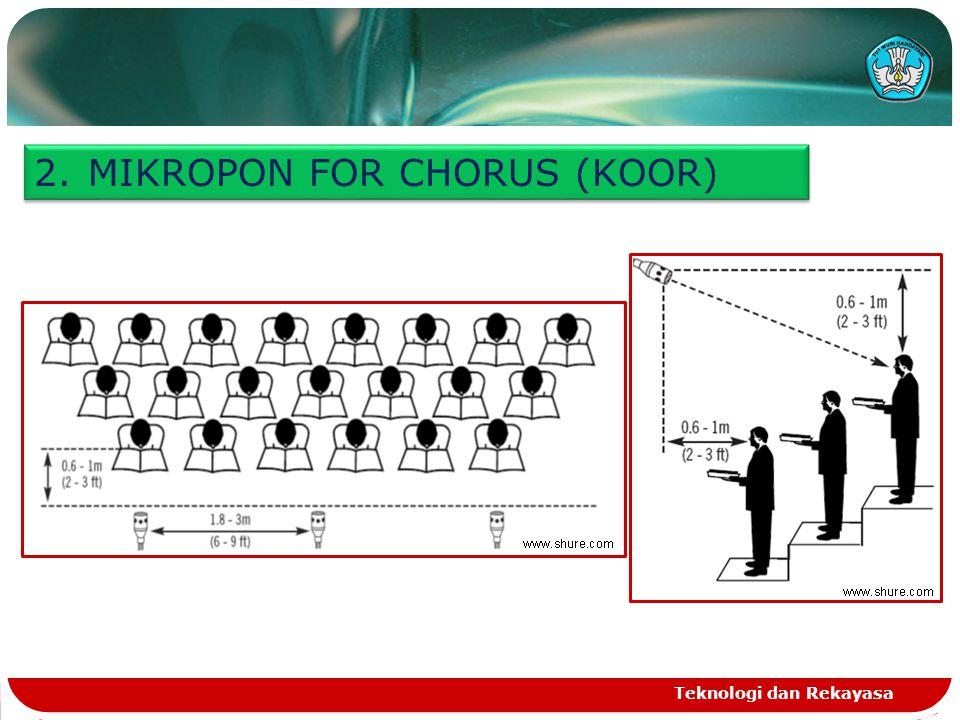 Teknologi dan Rekayasa 2.MIKROPON FOR CHORUS (KOOR)