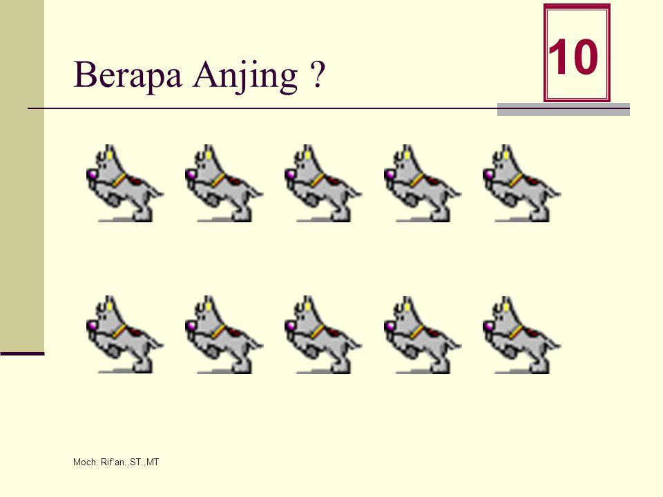Moch. Rif an.,ST.,MT Berapa Anjing ? 0 1 2 3 4 5 6 7 8 9 10